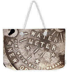Crescent City Water Meter Weekender Tote Bag by Valerie Reeves