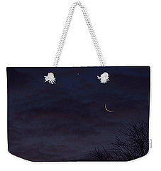 Crescent Moon And Venus Rising Weekender Tote Bag