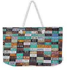 Crested Butte License Plate House Weekender Tote Bag by Fiona Kennard