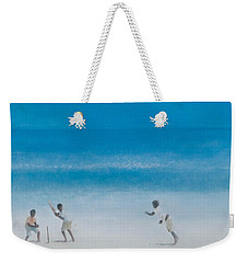 Cricket On The Beach, 2012 Acrylic On Canvas Weekender Tote Bag