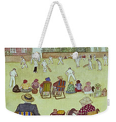 Cricket On The Green, 1987 Watercolour On Paper Weekender Tote Bag by Gillian Lawson