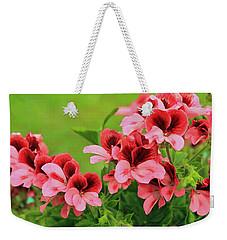 Crimson And Coral Weekender Tote Bag