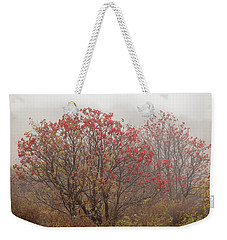 Crimson Fog Weekender Tote Bag by Melinda Ledsome