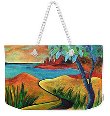 Crimson Shore Weekender Tote Bag
