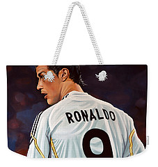 Cristiano Ronaldo Weekender Tote Bag by Paul Meijering