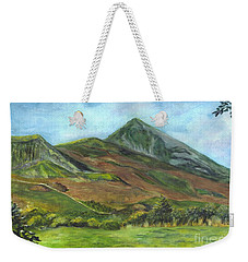 Croagh Saint Patricks Mountain In Ireland  Weekender Tote Bag by Carol Wisniewski