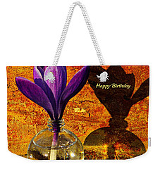 Crocus Floral Birthday Card Weekender Tote Bag