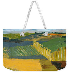 Weekender Tote Bag featuring the painting Crop Fields by Erin Fickert-Rowland