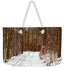 Weekender Tote Bag featuring the photograph Cross Country Trail by Nina Silver