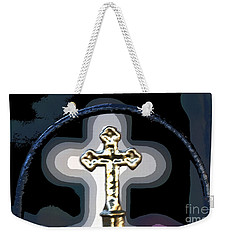 Weekender Tote Bag featuring the photograph Cross On Lacombe Louisiana Cemetery by Luana K Perez