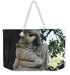 Weekender Tote Bag featuring the photograph I Cross My Heart Angel by Lesa Fine