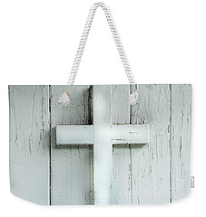 Cross On Holy Angels Sugar Island Michigan Weekender Tote Bag