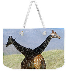 Crossed Giraffes Weekender Tote Bag