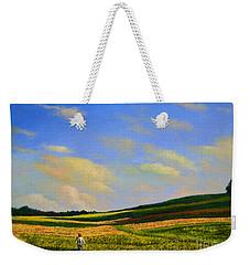 Crossing The Field Weekender Tote Bag