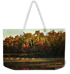 Crossing The Lake Weekender Tote Bag