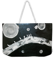 Weekender Tote Bag featuring the painting Crossing To Forever by Sharyn Winters