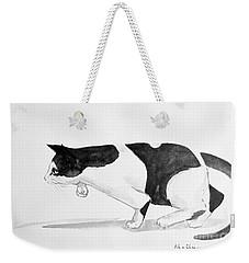 Crouching Cat Weekender Tote Bag