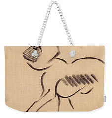 Crouching Monkey Weekender Tote Bag by Henri Gaudier-Brzeska