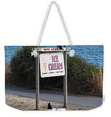 Weekender Tote Bag featuring the photograph Crow In The Bucket by Cheryl Hoyle