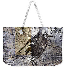 Crow Number 84 Weekender Tote Bag by Carol Leigh