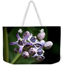 Crown Flower - Purple Weekender Tote Bag by Ramabhadran Thirupattur
