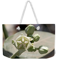 Weekender Tote Bag featuring the photograph Crown Flower by Ramabhadran Thirupattur