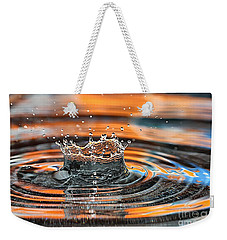 Crown Shaped Water Drop Macro Weekender Tote Bag by Teresa Zieba