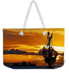 Crows Nest Silhouette On Newfoundland Coast Weekender Tote Bag