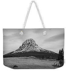 Crowsnest Mountain Black And White Weekender Tote Bag