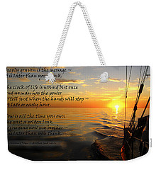Cruising Poem Weekender Tote Bag