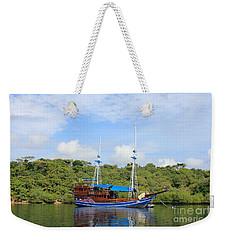 Cruising Yacht Weekender Tote Bag by Sergey Lukashin