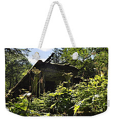 Weekender Tote Bag featuring the photograph Crumbling Down by Cathy Mahnke
