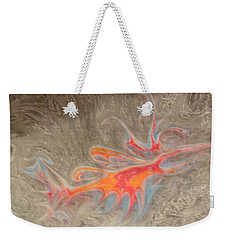 Weekender Tote Bag featuring the painting Crustacean by Mike Breau