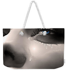 Weekender Tote Bag featuring the painting Cryin Da Blues by Tbone Oliver
