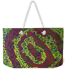 Weekender Tote Bag featuring the painting Crying Rocks by Jonathon Hansen