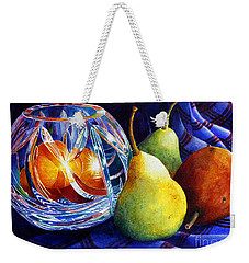 Crystal And Pears Weekender Tote Bag