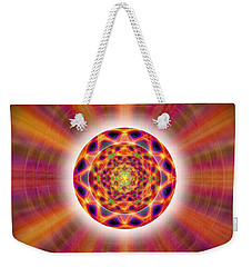 Weekender Tote Bag featuring the drawing Crystal Ball Of Light by Derek Gedney