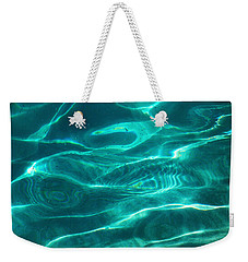 Crystal Clear Water. Blue Topaz Weekender Tote Bag by Jenny Rainbow