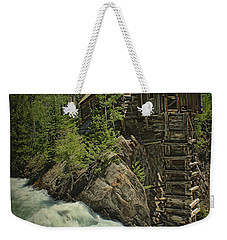 Weekender Tote Bag featuring the photograph Crystal Mill by Priscilla Burgers