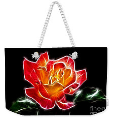Weekender Tote Bag featuring the photograph Crystal Rose by Mariola Bitner
