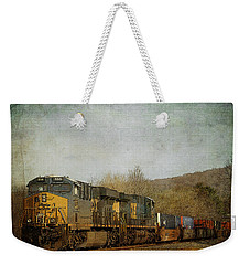 Csx Freight Train Vintaged Weekender Tote Bag