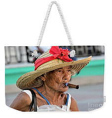Cuban Lady Weekender Tote Bag by Jola Martysz