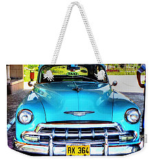 Weekender Tote Bag featuring the photograph Cuban Taxi			 by Pennie  McCracken