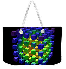Weekender Tote Bag featuring the digital art Cube Of Cubes... by Tim Fillingim