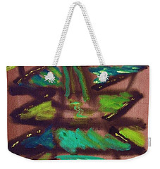 Weekender Tote Bag featuring the painting Cubist Tree by Mary Carol Williams