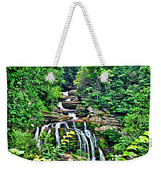 Weekender Tote Bag featuring the photograph Cullasaja Falls by Kenny Francis