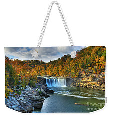 Cumberland Falls In Autumn Weekender Tote Bag