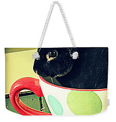 Cup O' Rabbit Weekender Tote Bag by Valerie Reeves