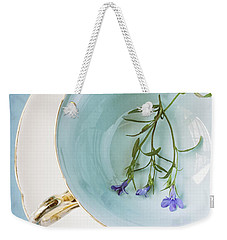Weekender Tote Bag featuring the photograph Cup Of Three by Amy Weiss