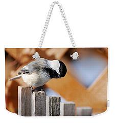Curious Chickadee Weekender Tote Bag